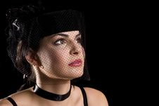 Free Brunette With Net Hat Royalty Free Stock Images - 6161879