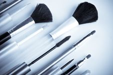 Free Makeup Brushes Stock Photos - 6161983