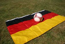 Free Soccer Ball And German Flag Stock Photo - 6162390