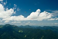Free Paragliding In The Alps Royalty Free Stock Image - 6162566
