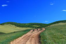 Free Country Road In Steppe Royalty Free Stock Photos - 6162888