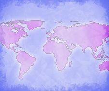 Free World Map Technology Background Stock Images - 6163174
