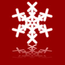 Free Beautiful Luminous Snowflake. Stock Photography - 6163242