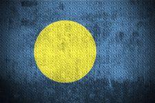 Grunge Flag Of Palau Royalty Free Stock Photography