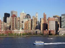 Manhattan Water Transportation Stock Images