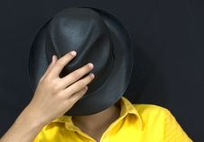 Free Boy With Black Hat Royalty Free Stock Photography - 6164127