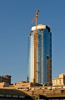 Free Downtown Seattle Development Royalty Free Stock Image - 6164456