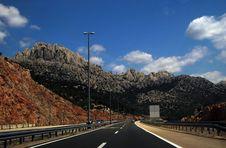 Free Motorway Crossing The Dalmatian Mountains Royalty Free Stock Photos - 6164788