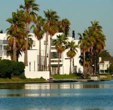 Palms Apartments By The Lake Stock Photography