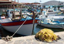 Free Fishing Port In Crete Island Stock Photography - 6165682