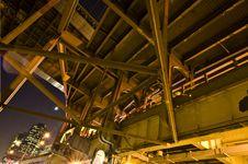 Below The Fdr/brooklyn Bridge Royalty Free Stock Photo