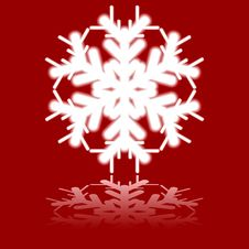Free Beautiful Luminous Snowflake. Royalty Free Stock Photo - 6166465