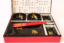 Chinese Set For Meal Stock Photo