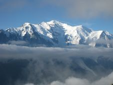 Free Mont Blanc And Fog Stock Photo - 6166550