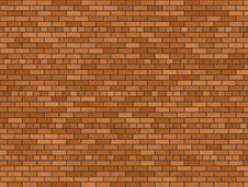 Free Brown Brick Background Stock Image - 6166891