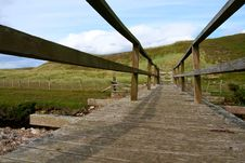 Wooden Footbridge Stock Photos