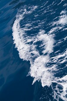 Wave At Sea From Craft Stock Photography