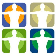 Free Male Silhouette Forms Royalty Free Stock Images - 6167839