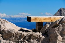 Free Bench On The Alps 2 Royalty Free Stock Photos - 6168278