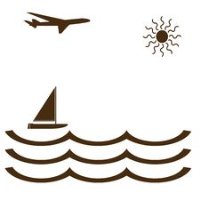 Free Vector Shaped Plane And Ship Royalty Free Stock Images - 6169029