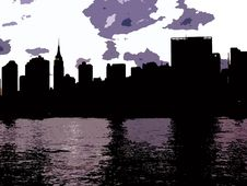 Free Manhattan Arty Silhouette Royalty Free Stock Image - 6169126