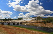 Free Midway Geyser Basin In Yellowstone Stock Photos - 6169183