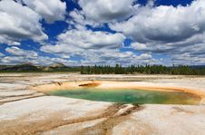 Free Midway Geyser Basin In Yellowstone Royalty Free Stock Photos - 6169198