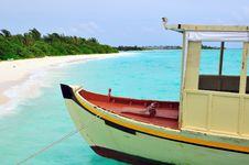 Free Old Traditional Boat Anchored Stock Photography - 6169902