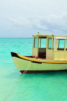Free Old Traditional Boat Anchored Royalty Free Stock Photography - 6169907