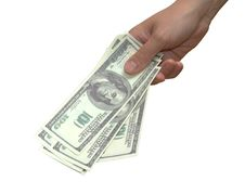 Free Hand With Money Stock Photography - 6169932