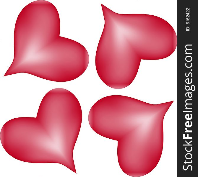 Lots Of Hearts Seamless Tile Pattern Background 20