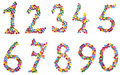 Free Numbers One To Zerom Made Of Candies Royalty Free Stock Photo - 6179055