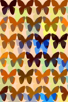 Free Pattern With Butterflies Royalty Free Stock Photography - 6170117