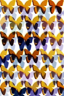Free Pattern With Butterflies Royalty Free Stock Photos - 6170348