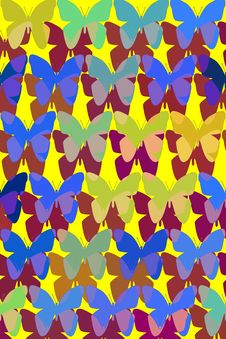 Free Pattern With Butterflies Royalty Free Stock Photo - 6170395