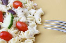 Free Pasta Salad With Fork Royalty Free Stock Images - 6170519