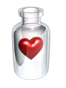 Free Red Heart In Bottle Stock Photos - 6170593