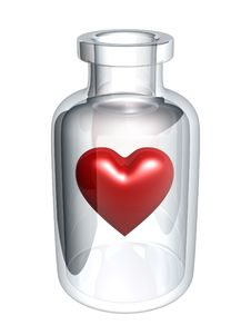 Free Red Heart In Bottle Royalty Free Stock Images - 6170599