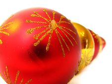 Christmas Balls In A Row Royalty Free Stock Image