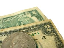 Free Couple O Two Dollar Banknotes Stock Photography - 6171162