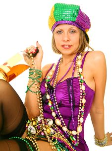 Free Mardi Gras Queen Stock Photos - 6171163