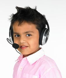 Free Young Boy With Head Phones Stock Images - 6172164