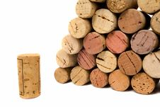 Free Wine Corks Over White Royalty Free Stock Photos - 6172808