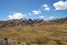 Andes Landscape Royalty Free Stock Images