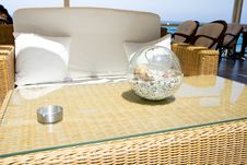 Free Stylish Empty Cafe Interior Table Stock Image - 6173141