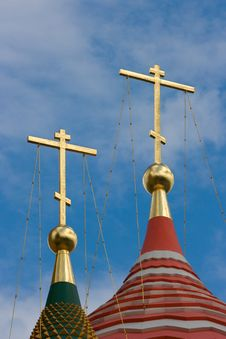 Heads Of The Basils Cathedral In Kremlin Royalty Free Stock Image