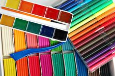 Free Colorful School Items Royalty Free Stock Photos - 6173998