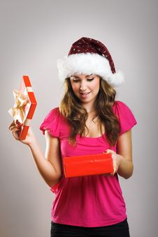 Free Christmas Portrait Of A Woman Royalty Free Stock Images - 6174109