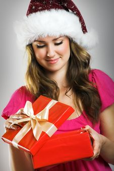 Free Christmas Portrait Of A Woman Stock Photos - 6174143