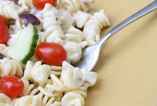 Free Pasta Salad Close Up Royalty Free Stock Image - 6174166